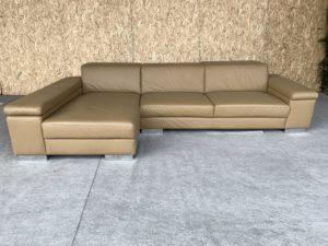 Кожаный диван в стиле ХАЙ ТЕК