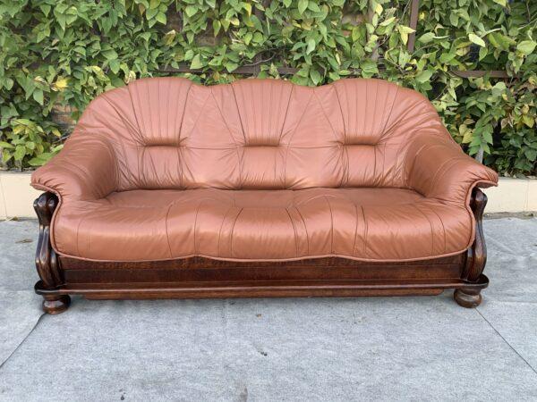 Кожаный диван ( Раскл)Бронь