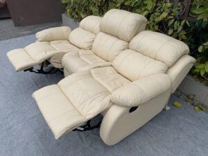Кожаный диван ( реклайнер)бронь
