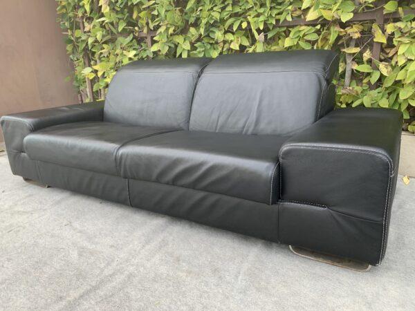Кожаный диван, хай тек!