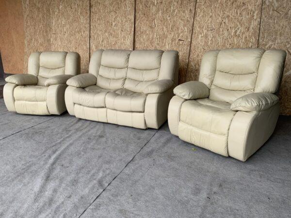 Кожаный диван (раскл) кресла реклайне бронь !