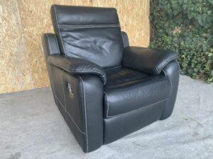 Кожаное кресло реклайнер !