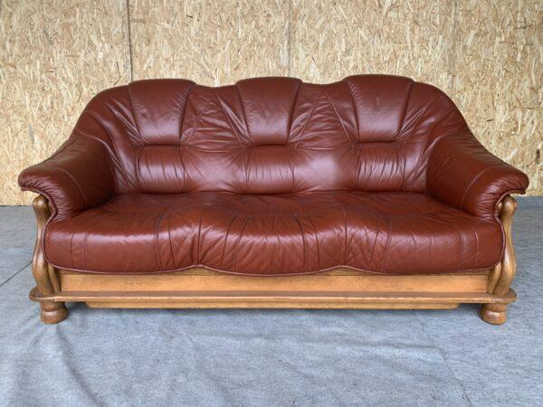 Кожаный диван (раскл)Бронь