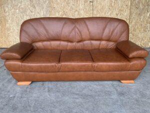 Кожаный диван ( раскладной)Бронь