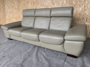 Кожаный диван ( реклайнер )