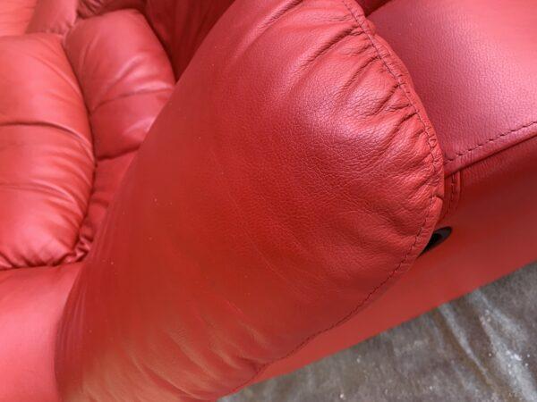 Кожаный диван ( реклайнер)