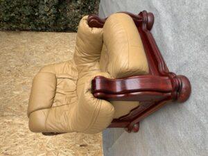 Кресло , дерево дуб , натуральная кожа!