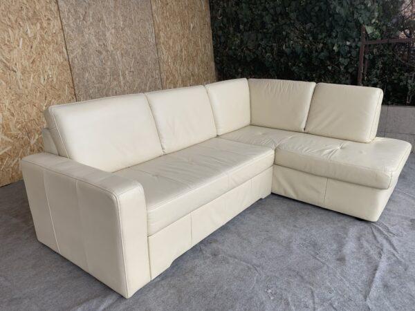Кожаный диван с Европы  ( раскладной)