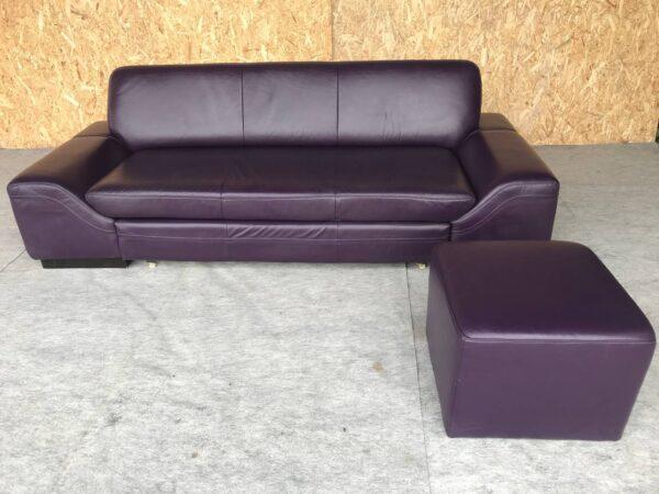 Кожаный диван (раскладной +пуф)заказан
