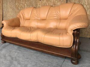 Кожаный диван ( раскладной)