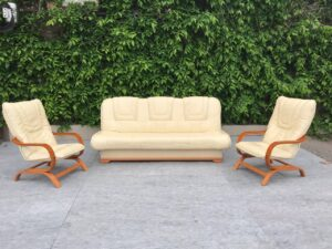 Кожаный гарнитур ( раскладной, кресла)заказан