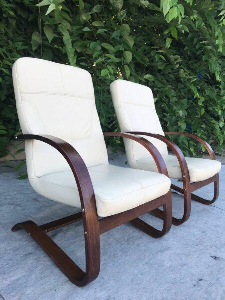 Кожаные кресла (качалки)заказано