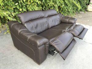 Кожаный диван электро реклайнер ( сенсор)