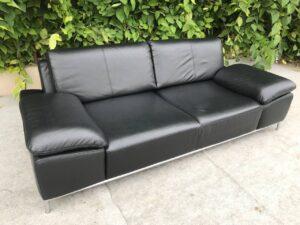 Кожаный диван (хай тек)