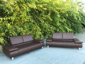 Два кожаных дивана KOINOR